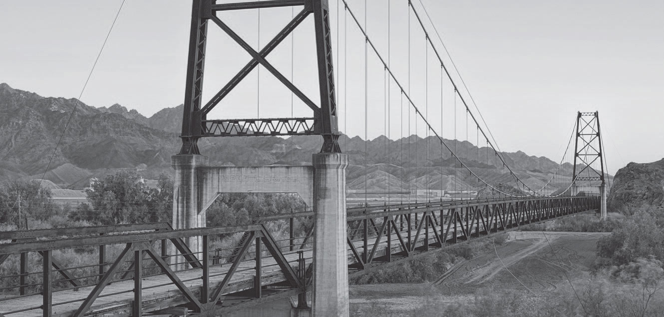 Mcphaul suspension bridge in Yuma, AZ